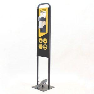 Ayaklı Dezenfektan Standı Metal Pedallı